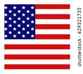 vector illustration of usa flag | Shutterstock .eps vector #629321735