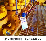 gas process valve isolation...   Shutterstock . vector #629322632