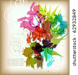 eps10 abstract mix of floral... | Shutterstock .eps vector #62932849