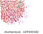 background pattern with hand... | Shutterstock . vector #629340182