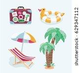 vector cartoon funny... | Shutterstock .eps vector #629347112