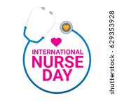 vector international nurse day... | Shutterstock .eps vector #629353928