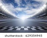 Track Arena 3d Rendering