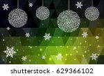 dark green vector christmas... | Shutterstock .eps vector #629366102