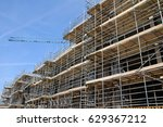 scaffolding and concrete slabs... | Shutterstock . vector #629367212
