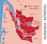 map wine bordeaux in france | Shutterstock .eps vector #629369162