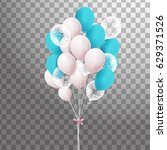 big bunch of colorful  balloons ... | Shutterstock .eps vector #629371526