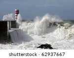 River Douro Mouth In A Stormy...