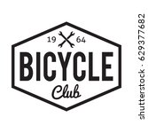 bicycle badge label. bike club. ... | Shutterstock .eps vector #629377682