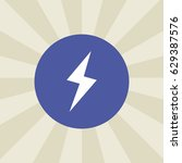 lightning icon. sign design....