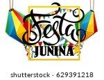 festa junina background holiday   Shutterstock .eps vector #629391218