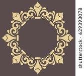 oriental vector golden round... | Shutterstock .eps vector #629393078