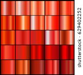 red  gradient collection for... | Shutterstock .eps vector #629402252