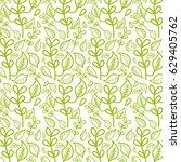 beautiful green leaves pattern... | Shutterstock .eps vector #629405762