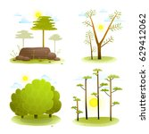 trees and bush forest landscape ... | Shutterstock .eps vector #629412062