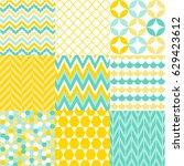 set of geometric patterns | Shutterstock .eps vector #629423612