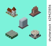 isometric architecture set of... | Shutterstock .eps vector #629425856