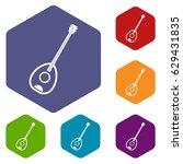 saz turkish music instrument... | Shutterstock .eps vector #629431835