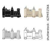 protective castle of belgium...   Shutterstock .eps vector #629451566