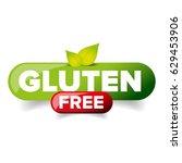 gluten free vector button | Shutterstock .eps vector #629453906
