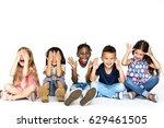 diverse group of children doing ... | Shutterstock . vector #629461505