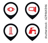 spare icon. set of 4 spare... | Shutterstock .eps vector #629464346