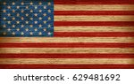 Usa  American Flag Painted On...