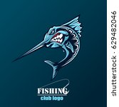 angry marlin fish logo. marlin... | Shutterstock .eps vector #629482046