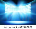 spotlights on the stadium.... | Shutterstock .eps vector #629483822