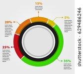 3d circle infographic chart ... | Shutterstock .eps vector #629486246