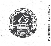 camper and caravaning club.... | Shutterstock .eps vector #629486348