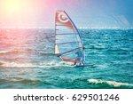 riva del garda  italy  lago... | Shutterstock . vector #629501246