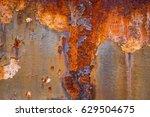 metal rust background  metal... | Shutterstock . vector #629504675