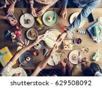 man giving birthday wishing... | Shutterstock . vector #629508092