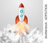vector background with retro... | Shutterstock .eps vector #629517626