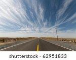 A Long Straight Desert Road In...