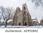 York Minster On A Cold Winter...