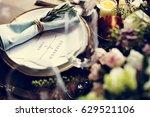 elegant restaurant table... | Shutterstock . vector #629521106