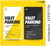 valet parking card design with... | Shutterstock .eps vector #629557136