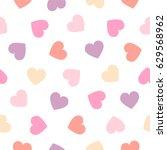 seamless vector pattern   pink... | Shutterstock .eps vector #629568962