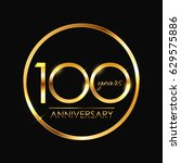 template logo 100 years...   Shutterstock .eps vector #629575886