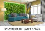 interior living room. 3d... | Shutterstock . vector #629577638