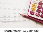 financial statements for... | Shutterstock . vector #629584532