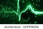 ekg electrocardiogram pulse... | Shutterstock . vector #629598206