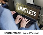 limitless time unlimited... | Shutterstock . vector #629599862