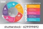 16 9 infographic flyer... | Shutterstock .eps vector #629599892