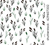 reeds on an white background.... | Shutterstock .eps vector #629607332