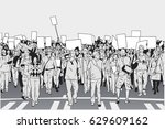 illustration of demonstrating... | Shutterstock .eps vector #629609162