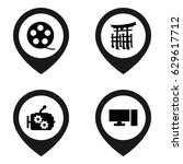 icon icon. set of 4 icon filled ... | Shutterstock .eps vector #629617712