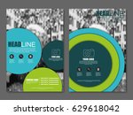 blue and green flyer  corporate ... | Shutterstock .eps vector #629618042